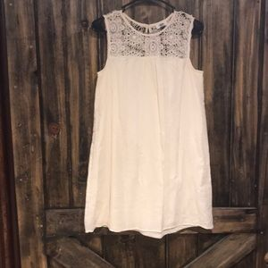 Old Navy Cream Crochet Dress Size XSmall